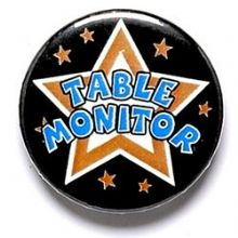 Table Monitor Badge